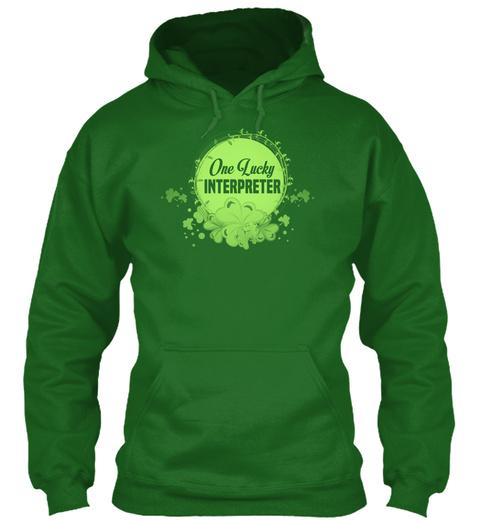 One Lucky Interpreter  Irish Green T-Shirt Front