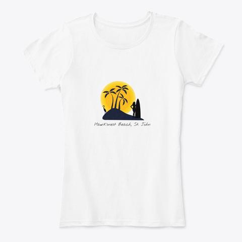 Hawksnest Beach St. John Virgin Islands White T-Shirt Front