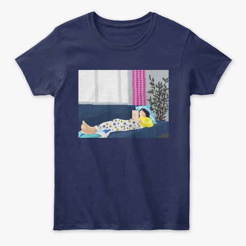 Chill Afternoon Navy T-Shirt Front