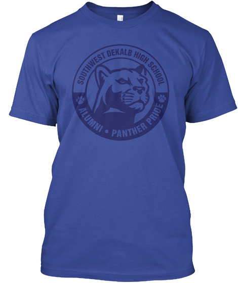 Southwest Deralb High School Alumni Panther Pride Deep Royal T-Shirt Front