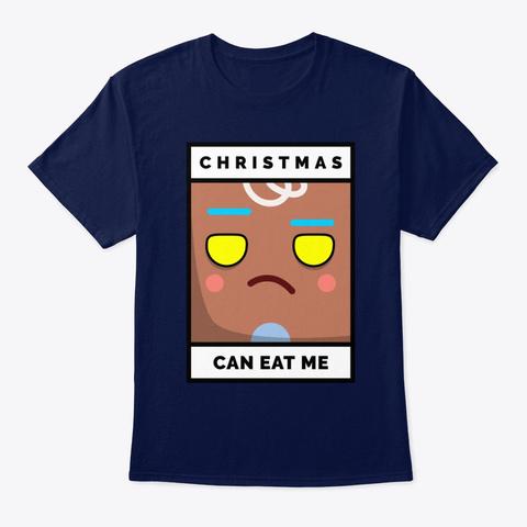 Gingerbread Man's Feelings At Christmas  Navy T-Shirt Front