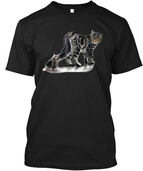 Tom And Jerry Black T-Shirt Front