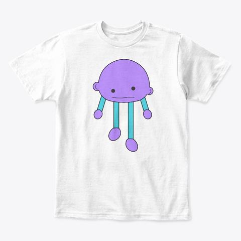 Bobli Print Kids T Shirt White T-Shirt Front