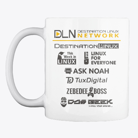 Dln Launch Mug White T-Shirt Front