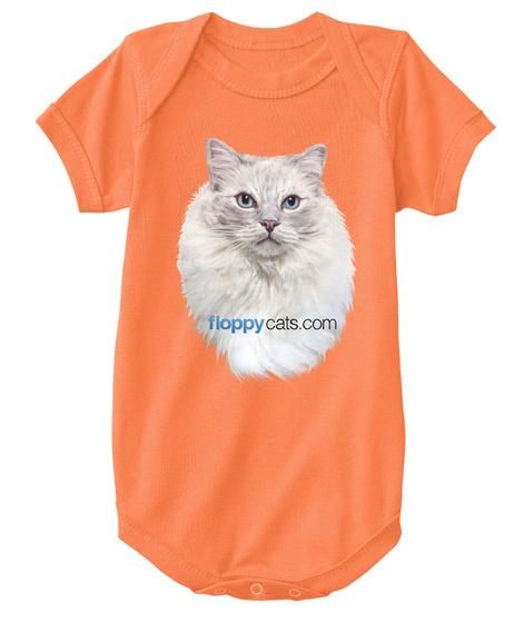 Limited Edition Ragdoll Cat Trigg Onesie Orange T-Shirt Front