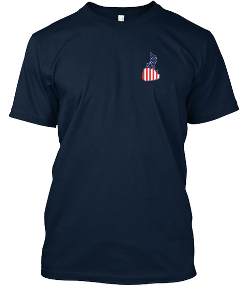 Red White And Block Island! New Navy T-Shirt Front