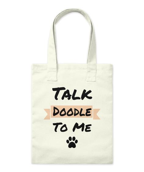 Talk Doodle To Me Natural T-Shirt Front