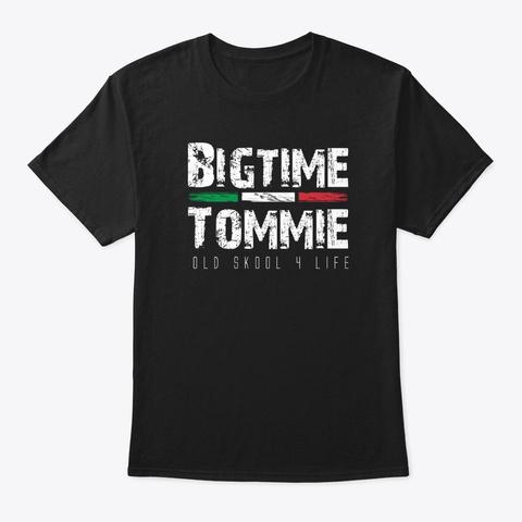 Bigtime Tommie Logo Apparel Black Black T-Shirt Front