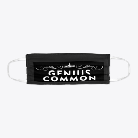 Genius Is Common Mask Black T-Shirt Flat