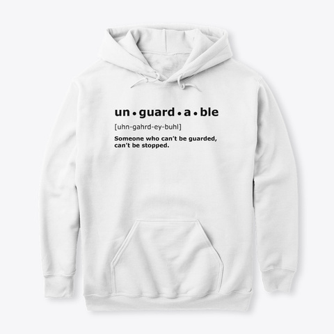 Unguardable | White Hoodie White T-Shirt Front