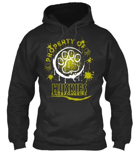 Husky Lover Funny Gift Jet Black T-Shirt Front