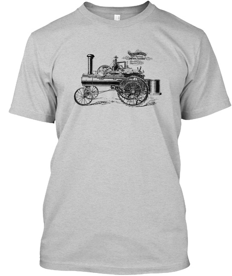 Nichols Shepard Steam Traction Engine Light Steel T-Shirt Front