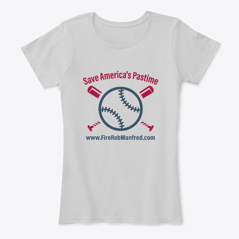 Save America's Pastime Light Heather Grey T-Shirt Front