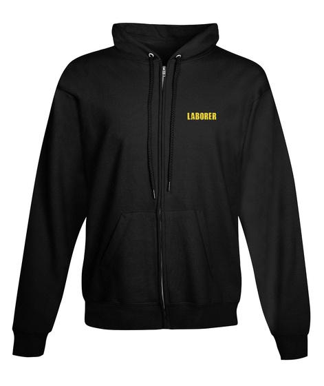 Laborer Zipper Hoodie Xmas Spl Black T-Shirt Front