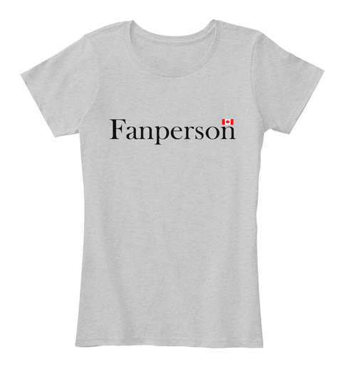 Fanperson Light Heather Grey Vrouwen T-Shirt Front