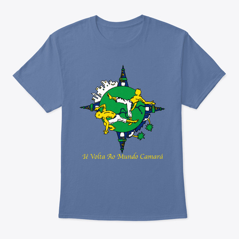 Capoeira T Shirt For Capoeiristas Denim Blue T-Shirt Front