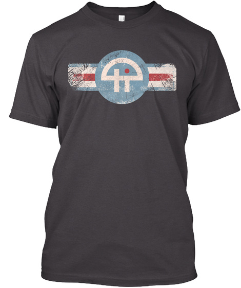 Join The T Wi T Air Force Heathered Charcoal  T-Shirt Front