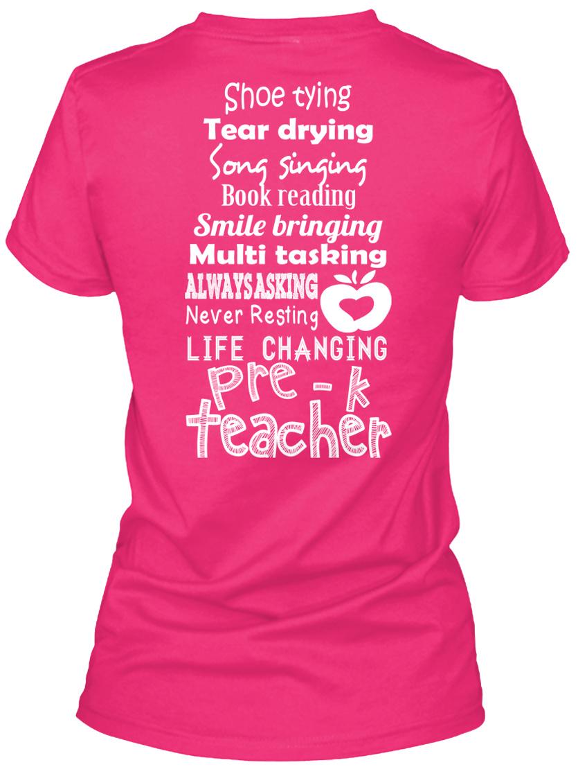 Shoe Tying Tear Drying T-Shirt Teacher Present Gift Student School Leavers