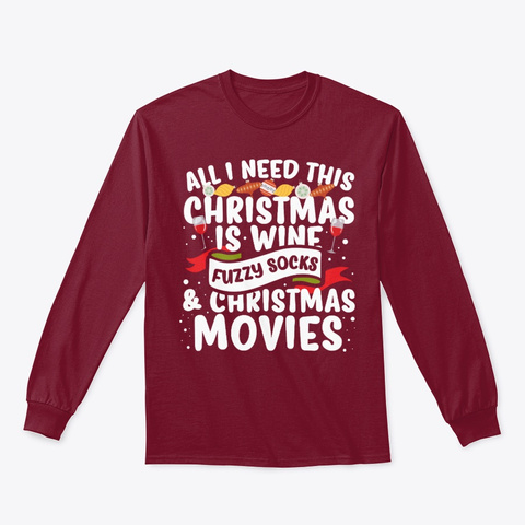 All I Need This Christmas Is Win Hoodie Cardinal Red T-Shirt Front