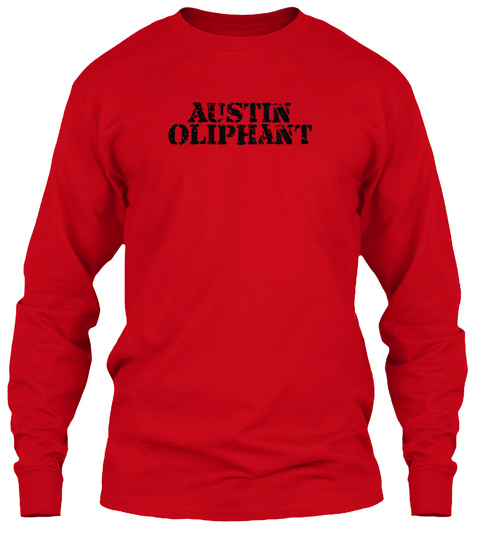 Austin  Oliphant Red T-Shirt Front