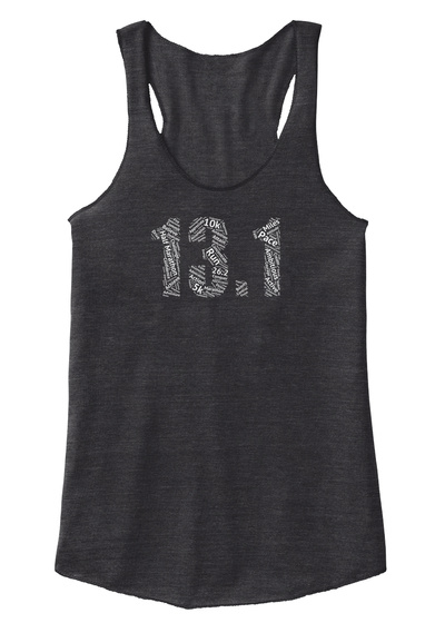 13.1 10k Run Pace Active 5k 26.2  Eco Black T-Shirt Front
