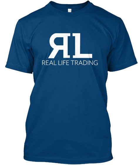 Rl Real Life Trading Cool Blue T-Shirt Front