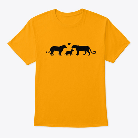 Lion Family   2 Mom Pride Gold T-Shirt Front