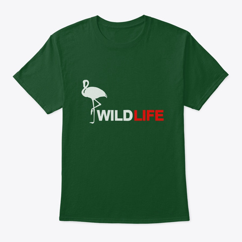 Wildlife Animal Tshirt For Nature Lovers Deep Forest T-Shirt Front