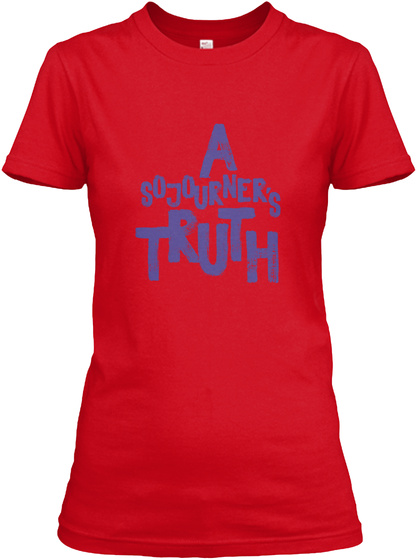 A Sojourner's Truth Red Women's T-Shirt Front
