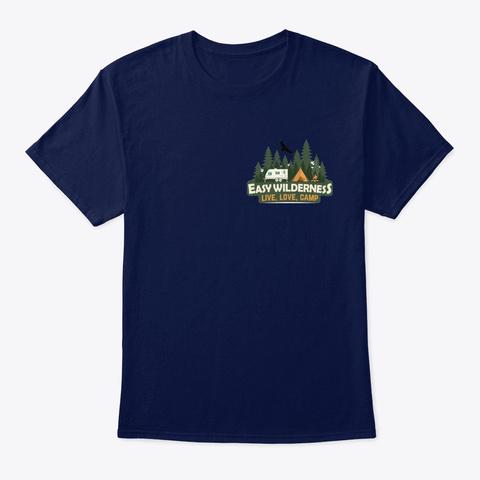Easy Wilderness Logo Navy T-Shirt Front