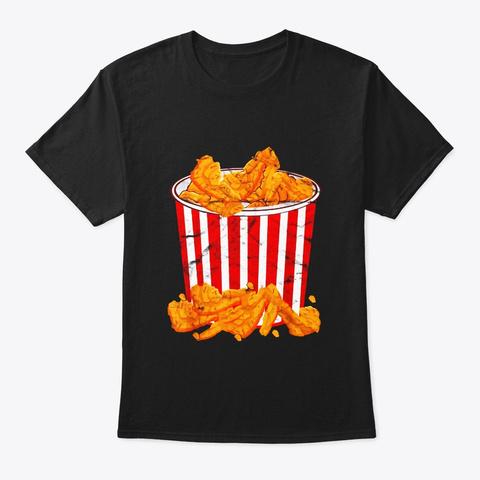 Fried Chicken Bucket Funny Halloween Black T-Shirt Front