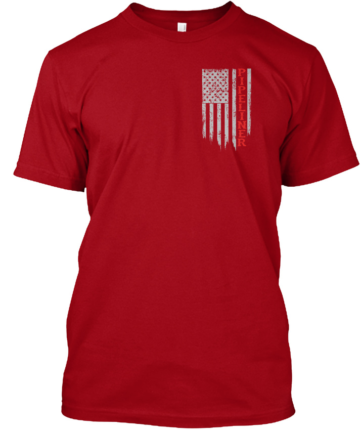 American-Pipeliner-Flag-Hanes-Tagless-Tee-T-Shirt thumbnail 6