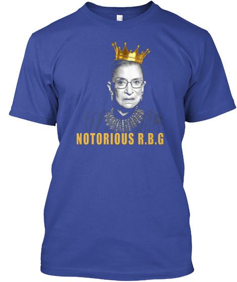 Notorious R.B.G Deep Royal T-Shirt Front
