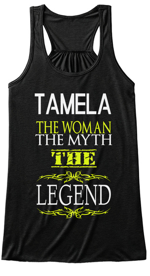 Tamela The Woman The Myth The Legend Black T-Shirt Front