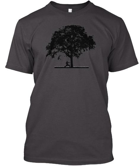 Makiwara Tree Heathered Charcoal  T-Shirt Front