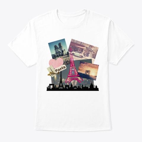 I Love Paris White T-Shirt Front