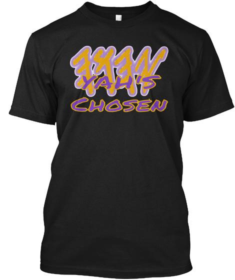 Yah's Chosen Black T-Shirt Front