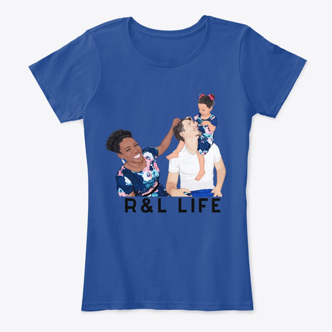 R & L Fam Deep Royal  T-Shirt Front