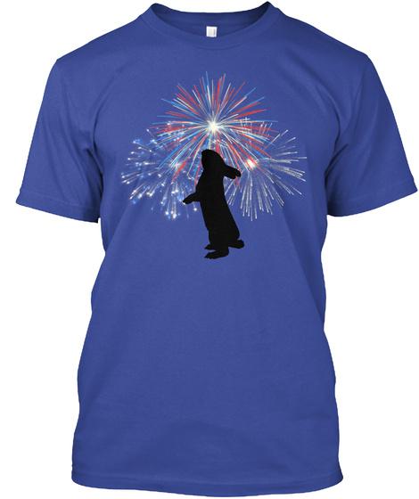 Firework Bunny Deep Royal T-Shirt Front