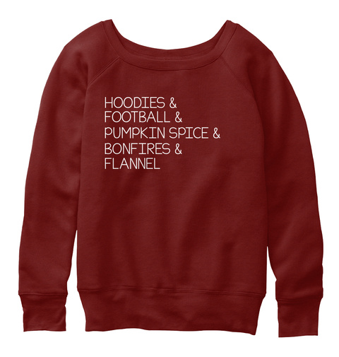 Best Things About Fall Dark Red Triblend Sweatshirt Front