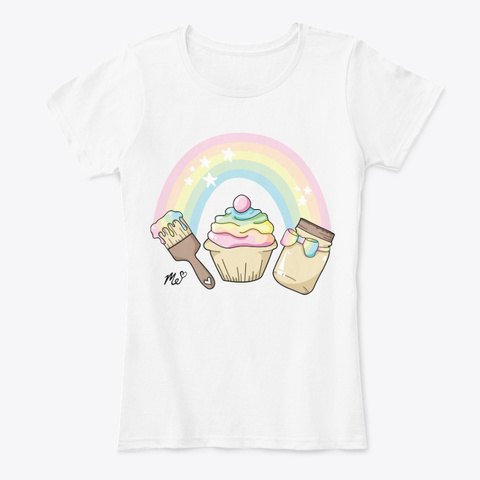Art. Crafts. Squishies. (Women's) White T-Shirt Front