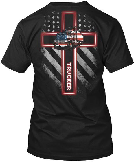 Trucker Black T-Shirt Back