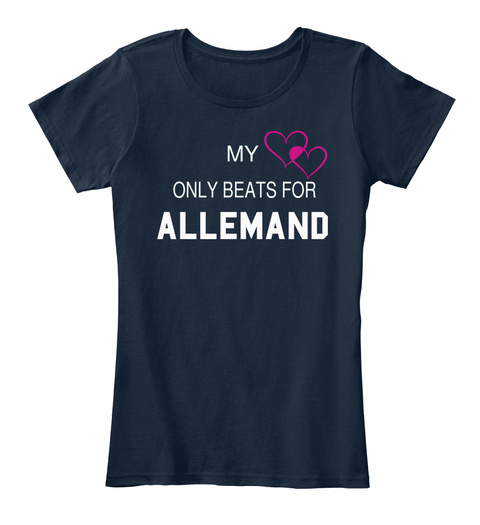 My Only Beats For Allemand New Navy T-Shirt Front