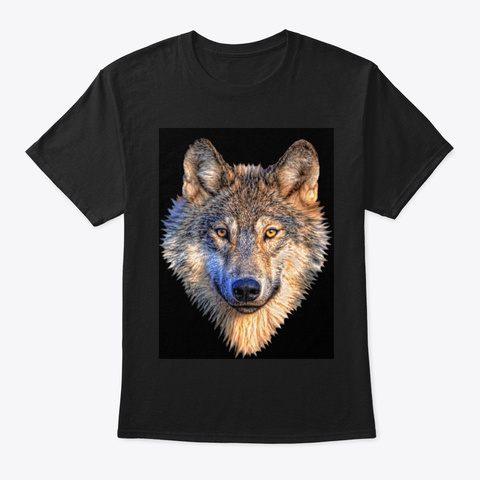 The Wolf Black T-Shirt Front