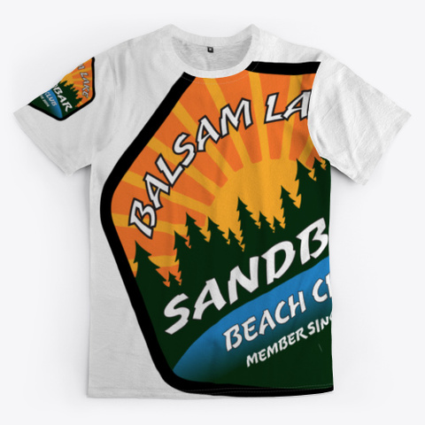 Balsam Lake Sandbar Beach Club Standard T-Shirt Front