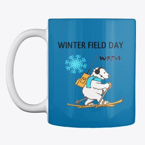 Winter Field Day Royal Blue T-Shirt Front