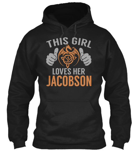 Loves Jacobson   Name Shirts Black T-Shirt Front