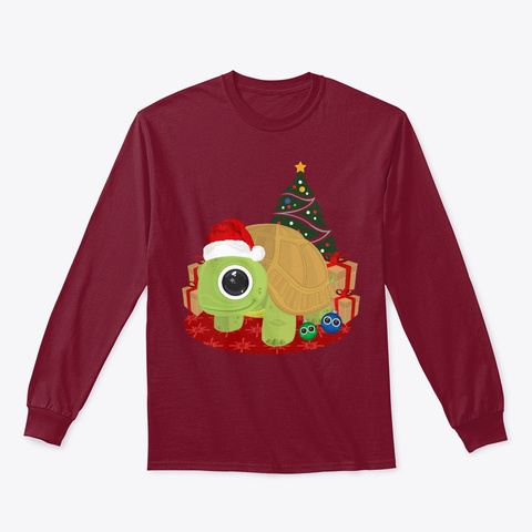 Christmas   Turtle Lover Christmas Gift  Cardinal Red T-Shirt Front