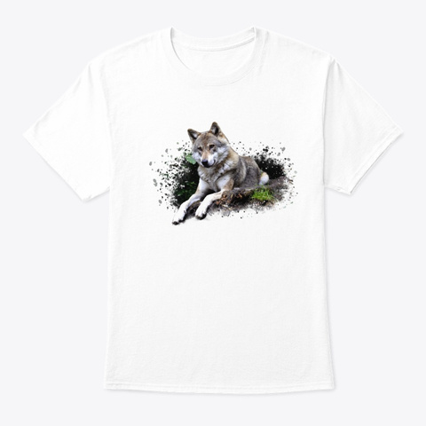 The Gray Wolf White T-Shirt Front