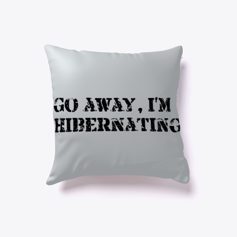 Hibernation Aid Light Grey T-Shirt Back